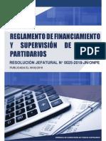 REGLAMENTO Y FINANCIAMIENTO DE PARTIDOS POLITICOS