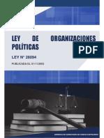 1.- Ley de Organizaciones Políticas