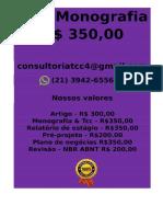 Tcc & Monografia Por 349,99 Whatsapp (21) 974111465 Editoracaoservicos@Gmail.com (26)
