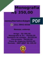 Tcc & Monografia Por 349,99 Whatsapp (21) 974111465 Editoracaoservicos@Gmail.com (32)