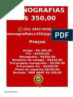 Tcc & Monografia Por 349,99 Whatsapp (21) 974111465 Editoracaoservicos@Gmail.com (74)