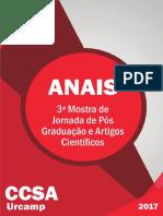 ANAIS III Jornada de Pós e Artigos