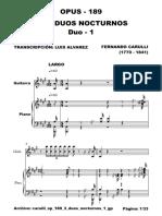 Carulli Ferdinando Carulli Op189 Duos