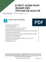 Guide de Redaction Articles de Qualite V5[1]
