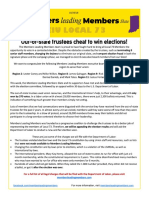 """Members leading Members"" Leaflet on SEIU Local 73's Elections"