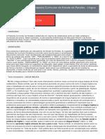 LÍNGUA INGLESA - Consulta Pública Da Proposta Curricular Do Estado Da Paraíba