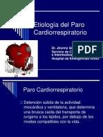 Etiología Del Paro Cardiorrespiratorio