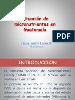 Situacion de Micronutrientes en Guatemala