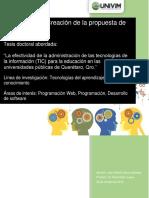 Juan García Propuesta de Investigación - Personal Leaning Environmennts