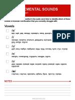 Russian Sounds Checklist