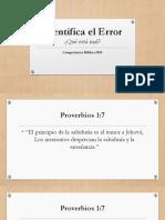 Identifica El Error