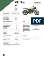 PDF Pulsar Ns200 Fi