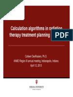 Calculation Algorithms TPS