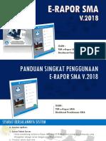 PANDUAN SINGKAT e Rapor VERSI 2018 Revisi 22-02-2018 Presentasi p Yit