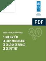 Guía Elaboración Plan Comunal GRD Subdere-PNUD