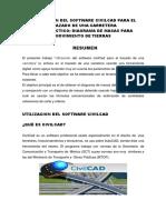 Utilizacion Del Software Civilcad Para El Trazado de Una Carretera