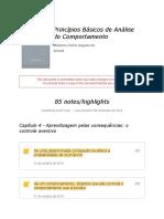 """Notes From """"Princípios Básicos de Análise Do Comportamento"""""""