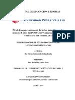Comprension Oral de Textos Narrativos-nieves 5-02-2015