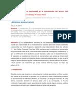 El problema sobre la oportunidad de la incorporación del tercero civil responsable NCPP.docx