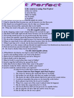 The Past Perfect Grammar Drills 66159
