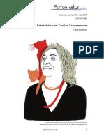 Entrevista Carolee Schneemann Performatus