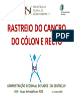 Rastreio Do Cancro Do Cólon e Do Recto (ARSCentro)