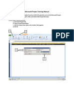Microsoft Project Training Manual