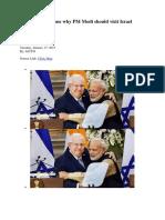 Five Strong Reasons Why PM Modi Should Visit Israel