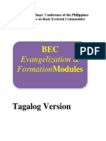 08.13.17 BEC Evangelization Formation Modules Tagalog