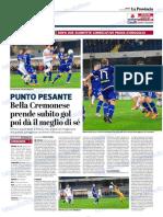 La Provincia Di Cremona 03-11-2018 - Punto Pesante