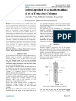 Predictive Control applied to a mathematical model of a Flotation Column