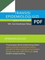 Transisi Epidemiologi Gizi (Pertemuan 6)