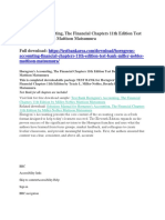 Horngren's Accounting, The Financial Chapters 11th Edition Test Bank Miller-Nobles Mattison Matsumura