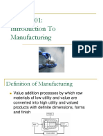 Chap1 Introduction to Manufacturing