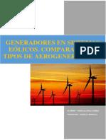 El Generador de Induccion en Sistemas Eolicos. Comparativa de Aerogeneradores