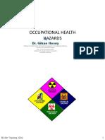Lecture 2B -Occupational Health Hazards-جزء ناقص من المحاضرة