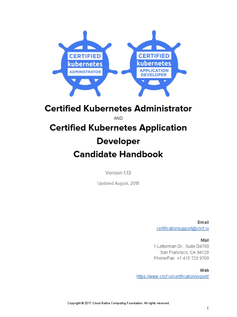 CKA_CKAD_Candidate_Handbook_v1 13 pdf   Identity Document