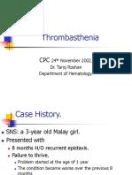 Thrombasthenia