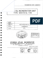 Maker Final Dwg & Instr. Manual for Waste Oil Incin. Unit