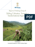 Shifting Cultivation Report by NITI Aayog 2018