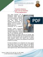 Novena Nuestra Señora de Los Dolores