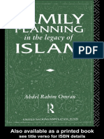 family plannig in the legacy of islam