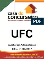 Apostila Ufc 2017 Auxiliar Em Administracao