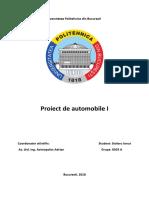 Proiect Auto Autoutilitara