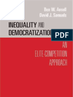 Ansell. Inequality and Democratization an Elite Competition Approach