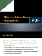 Effective School Based Management
