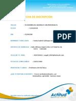Ficha de Inscripción Sonia Gallegos Arcos