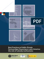 Best Practices in Public-Private Partnerships Financing in Latin America