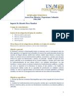 Seminario Pérez Montfort Ricardo 2019-1