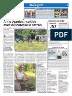 Anne Jeanjean cultive avec délicatesse le safran (08/08/18)